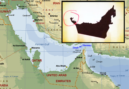 Saudi Arabia and the UAE disputed territories and geographical – Geographical Map of Uae
