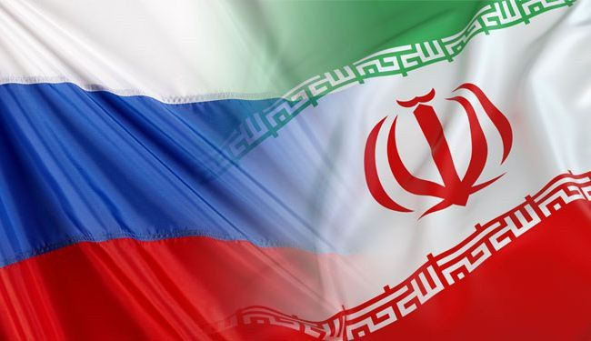 Iran Russia flags