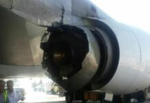 engine of Boeing 747