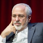 Iranian Foreign Minister Mohammad Javad Zarif speaks at the New York University (NYU) Center on International Cooperation in New York