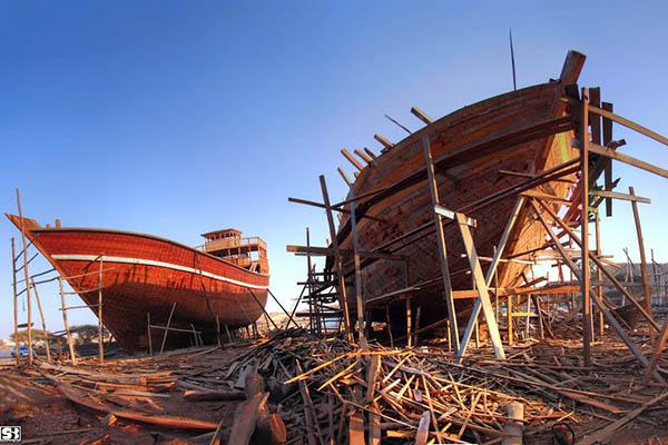 Ships in Qeshm Island