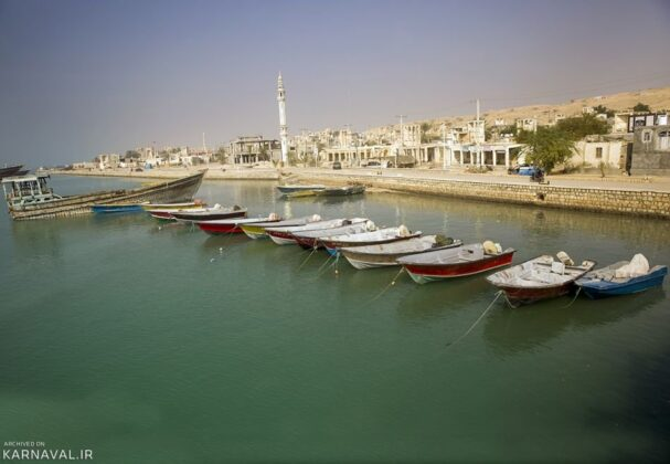 Laft Village, Port of Wind-catcher in Iran's Qeshm Island