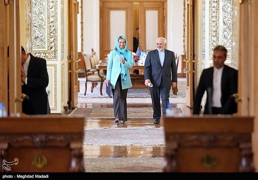 Mogherini and Mohammad Javad Zarif