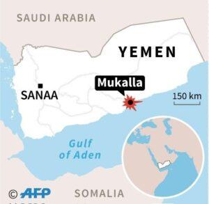 Mukalla map- Yemen Bomb