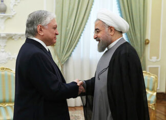 Rouhani and Armenian FM Edward Nalbandian
