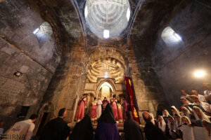 Qara Kelisa or St. Thaddeus Complex in Chaldoran, northwest of Iran, hosted the annual religious ceremony of Armenians known as Badarak.