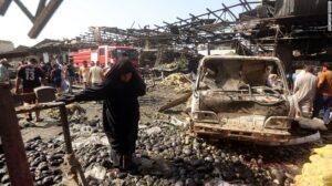 Baghdad Blasts-Iraqi old Woman