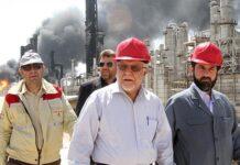 Iranian Minister of Petroleum Bijan Zangeneh is seen at Bu Ali Sina Petrochemical Complex in Iran's southwestern province of Khuzestan on July 8, 2016. ©SHANA