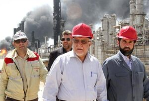 Iranian Minister of Petroleum Bijan Zangeneh is seen at Bu Ali Sina Petrochemical Complex in Iran's southwestern province of Khuzestan on July 8, 2016. ©SHANA