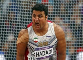 Iranian discus thrower Ehsan Haddadi