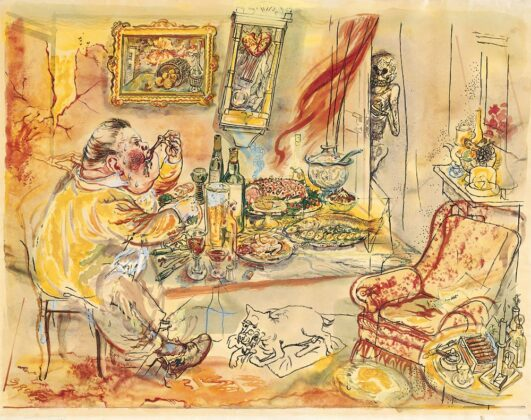 The unexpected guest by George Grosz