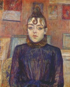 Lautrec girl with lovelock by Henri de Toulouse-Lautrec