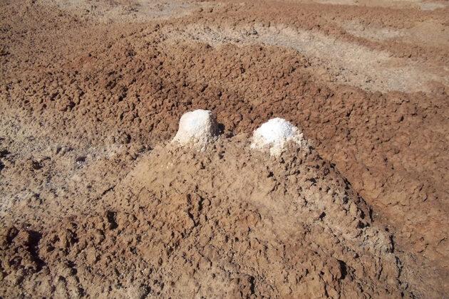 Lut Desert: Egg shap Salt Pingo
