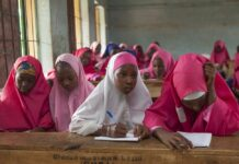Nigerian school girls with Hijab