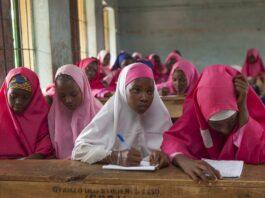 Nigerian school girls with Hijab
