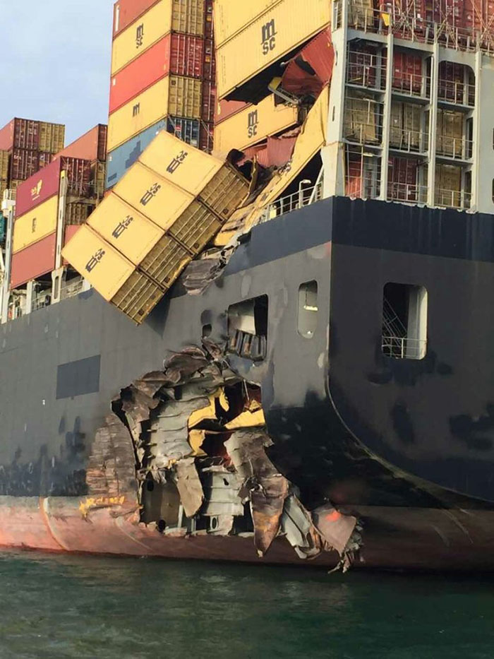 Damage to the MSC Alexandria