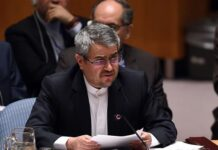 Gholam-Ali Khoshroo, Iran's ambassador and to the United Nations (UN) (photo by AFP)