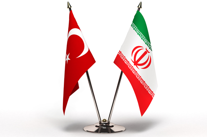Iran and Turkey flags