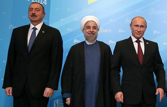 Rouhani-Putin-Aliyev