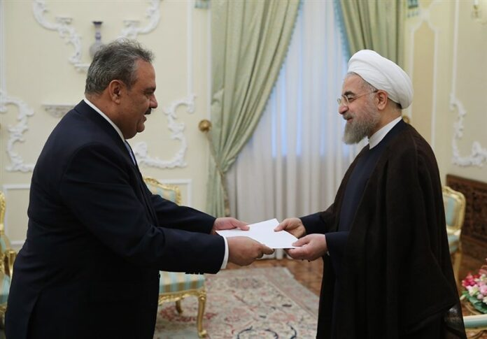 Rouhani and Pakistan ambassador