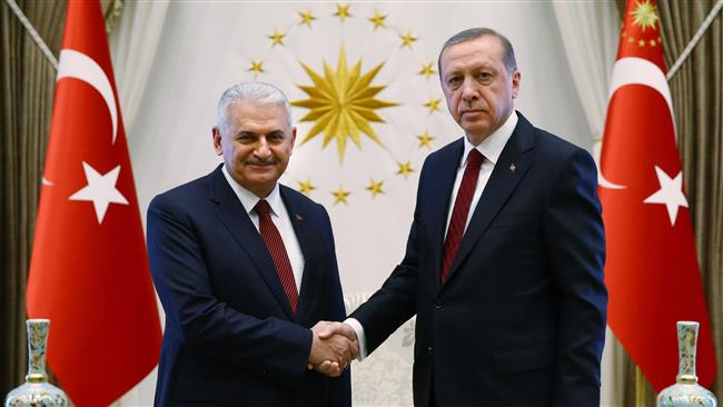 Turkey Erdogan and PM