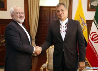 Zarif and Ecuador's President