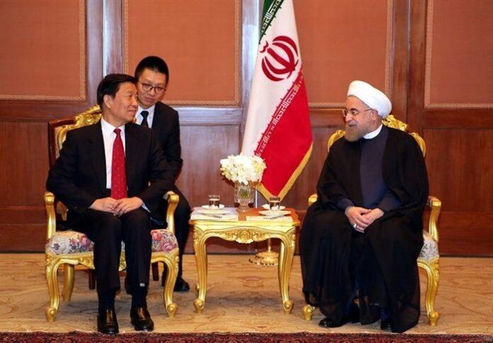 Li Yuanchao-President Rouhani