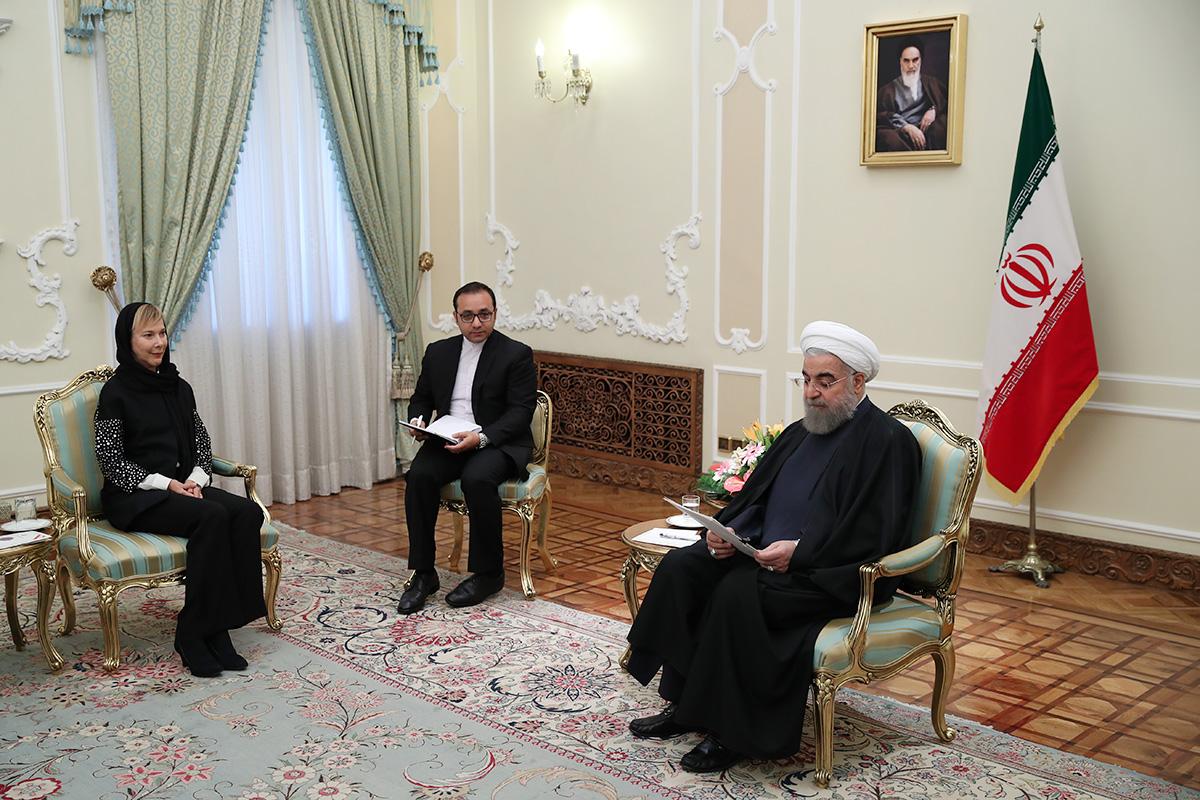 Rouhani-Swedish diplomat