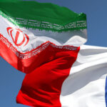 Iran and France flags