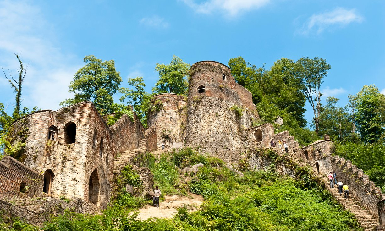 Rudkhan castle in Fuman, Gilan Province, Iran. Photograph: Alamy