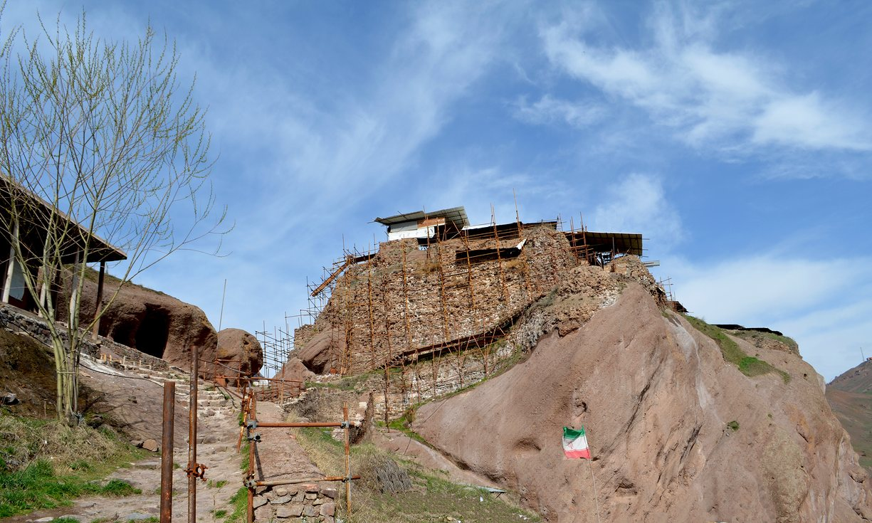 Alamut Castle in the Alamut valley, Alborz mountains. Photograph: Getty Images
