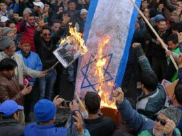 indian protests against israel