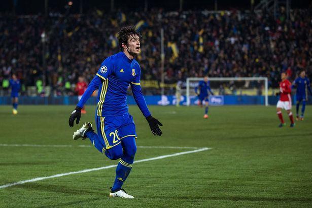 Azmoun celebrates his goal