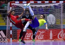 Iran and Brazil futsal