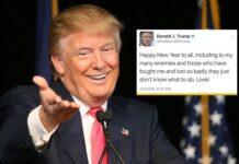 Trump New Year Tweet