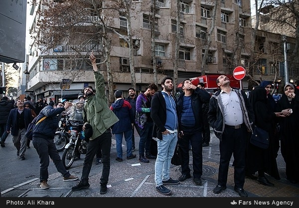 Iran's Anti-Aircraft Fire Shots at Small Drone in Central Tehran