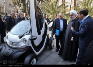 Electric car in Iran - Rouhani