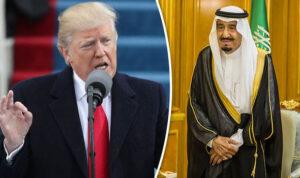 King Salamn and Trump- Express.co.uk