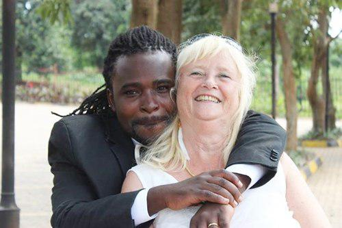 Older woman marries younger man