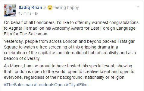 توئیت شهردار لندن