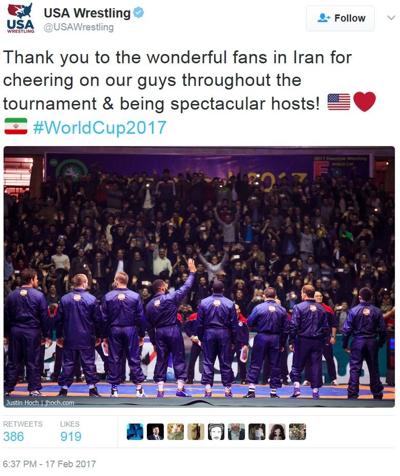 US Wrestling Federation - tweet