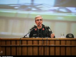 The chief of staff of the Iranian Armed Forces, Major General Mohammad Baqeri