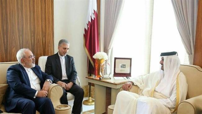 Iranian FM Zarif Holds Talks with Emir of Qatar in Doha