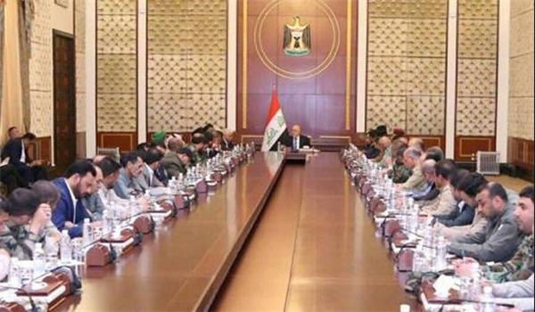 تعهد رئيس الوزراء العراقي حيدر العبادي لقادة الحشد الشعبي، السبت، بأن حكومته لن تسمح بالتفريط في حقوق مقاتلي الحشد، وفيما أكد أن كلامه مع الإدارة الأميركية