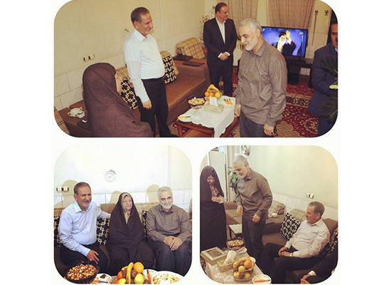 الجنرال سليماني يزور والدة مساعد الرئيس الايراني