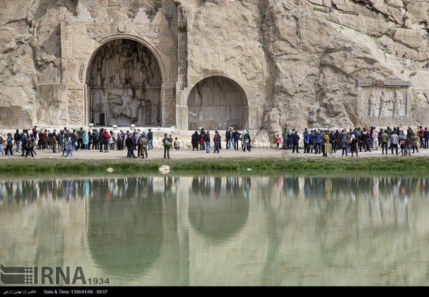 """سياح عيد النوروز في """"طاق بستان"""" الاثري بكرمانشاه الايرانية-66"""