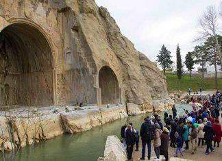 """سياح عيد النوروز في """"طاق بستان"""" الاثري بكرمانشاه الايرانية-7"""