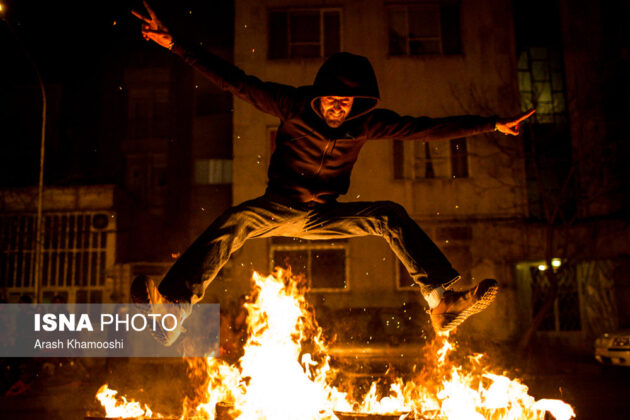 Iranian People Celebrate Persian Fire Festival (11)