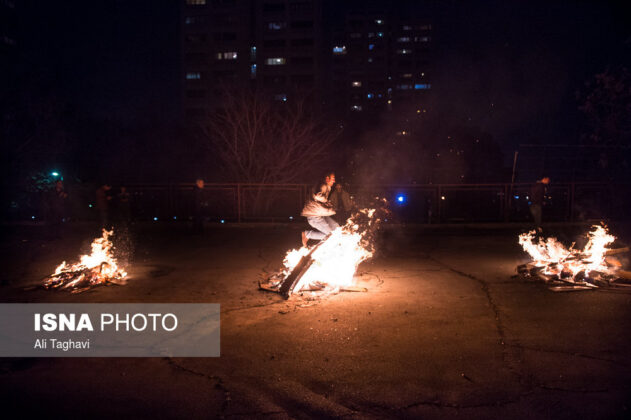 Iranian People Celebrate Persian Fire Festival (2)