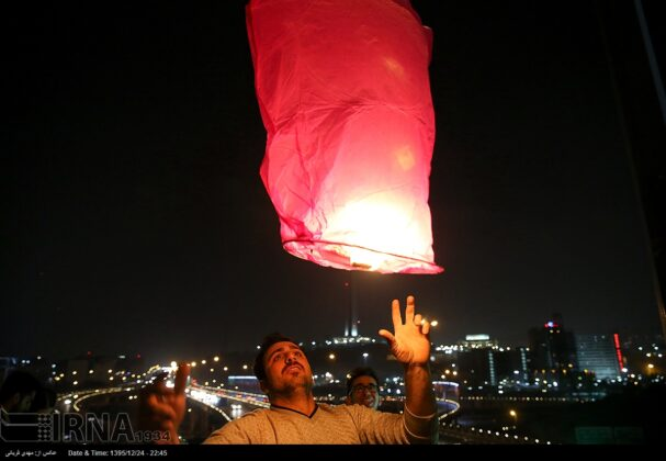 Iranian People Celebrate Persian Fire Festival(22)